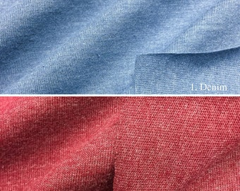 Cotton Blend Jersey Fabric Knit  (Wholesale Price Available By the Bolt) USA Made Premium Quality- 2530PC - 1 Yard