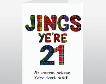 Scottish Jings 21 Card WWBI105