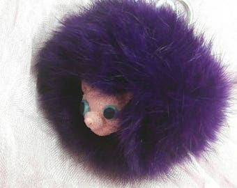 Pygmy Puff violet inspired by Harry Potter and Ginny Weasley keychains