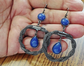 very nice hoop pierced Earrings /gg2