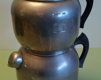 1950s West Bend Kwik Drip Aluminum Coffee Maker 15-18 cup capacity