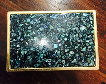 Vintage Paua Shell Box