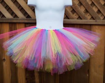 Colorful Rainbow Tutu/Unicorn Tutu/Trolls Tutu - Other Colors Available