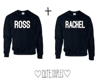 Ross and rachel Couple Sweater FRIENDS - hoodie,sweater,relationship,gift,paar,paare,shirt,hoody,netflix,series,friends series