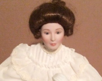 Classic Brides of the Century Flora, exclusive porcelain doll design by Ellen H Williams, collectible doll 7804B.