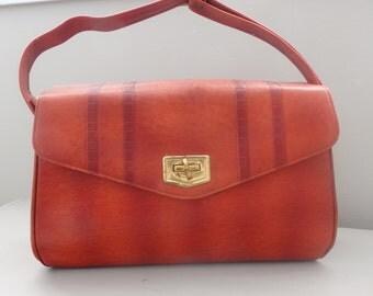 Vintage 60s Meeker bag Turn Lock leather Purse