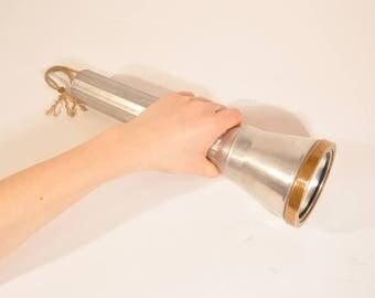 Vintage underwater flashlight ussr, big aluminium flashlight, rare flashlight
