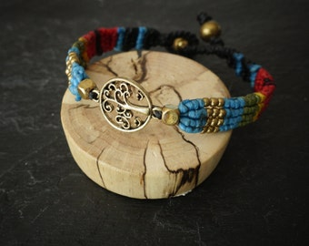 tree of life bracelet bracelet macrame bracelet bracelet blue beads bracelet original jewelry bracelet friendship