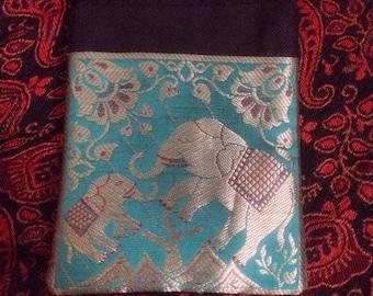 Small green elephant purse