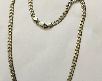 Sterling silver gunmetal finish anti turnish chain