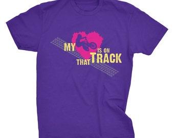 "BMX-""My heart is on that Track"" custom Tshirt-Size L"