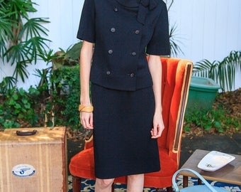 Perfect Little Black 1960s Suit