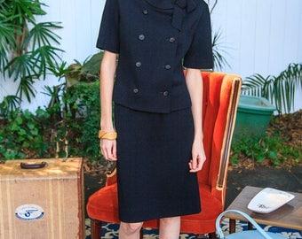 Perfect Little Black 1960s Suit