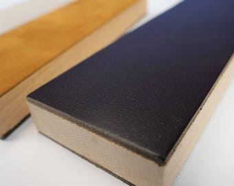 Leather Strop w/ Suede and Hardwood Base
