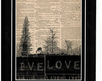 Landscape Typography dictionary paper