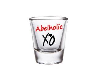 The Weeknd Shot Glasses, XO, Shot Glasses, The Weeknd Collectibles,XO, Shot Glass Collectibles,The Weeknd Fan Collectibles, XO Collectibles