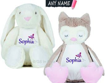PERSONALISED OWL or BUNNY
