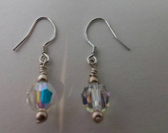 Beaded earrings - Beaded jewelry - Quartz crystal jewelry - Gifts for her!