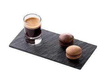 Bague r glable caf gourmand assiette et tasse biscuits for Service cafe gourmand ardoise