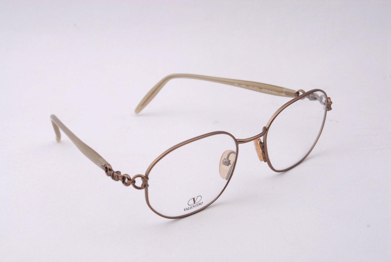 Vintage Valentino V 5072 53/19 135 Italy Designer Eyeglass Frames ...