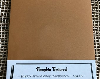 Pumpkin Orange Textured Extra Heavy Weight 140 lb Cardstock Paper 8.5 x 11 25 sheets QUALITY