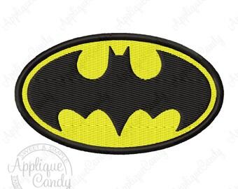 Bat Super Hero Solid Fill Machine Embroidery Design Digital File 2x2 3x3 4x4 Batman man INSTANT DOWNLOAD