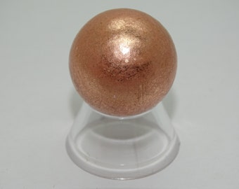"""30MM. (1.2"""") Diameter Solid Native Michigan Copper Sphere With Stand"""