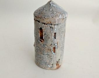 Small houses, fairy house, tiny house, miniature house, small clay houses, Ceramic house, mini town, terrarium decor, garden pottery