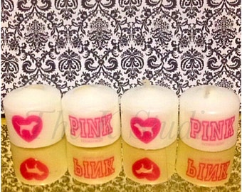PINK Candle Set of 4
