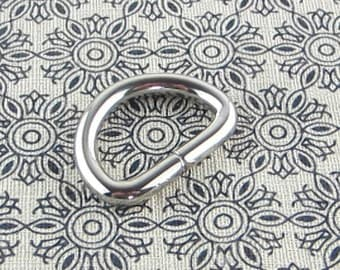 Silver D Rings 12 pieces 1 inch (inner diameter) 3.5MM thickness