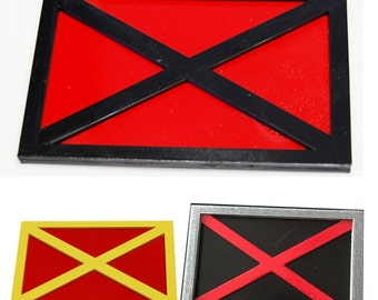 Yellow and Red X-Men Rectangle Belt Buckle