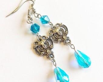 Great Gatsby Earrings, Downton Abbey Jewelry, Great Gatsby Jewelry, 1920s Jewelry, Art Deco Earrings, Gatsby Earrings, Great Gatsby