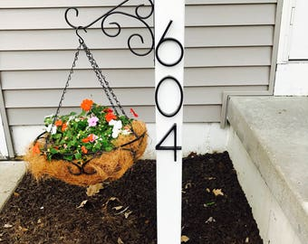 Hanging Basket Address Post