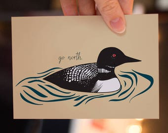 Loon Go North Greeting Card