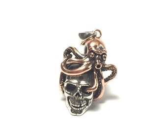 Octopus skull pendent
