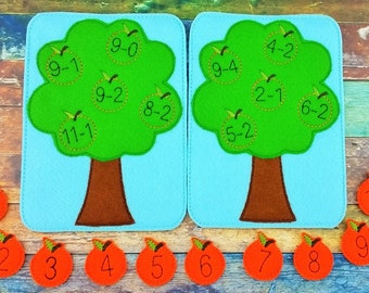 Orange Subtraction Game - Math Game - Educational Game - Subtraction