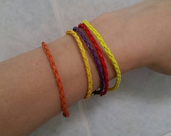 Genuine leather, braided friendship bracelets (fashion, gift, for men, women, girls and boys!) Limited edition