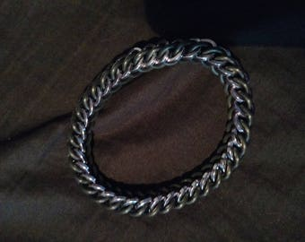 Black Ice and Black Stretchy Square Wire Chainmaille Bracelet
