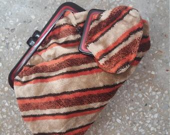 Vintage 1940s purse/lucite framed 40s handbag / woven clutch&wallet
