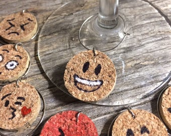 The Emoji Gang Wine Hangers | Wine Charms