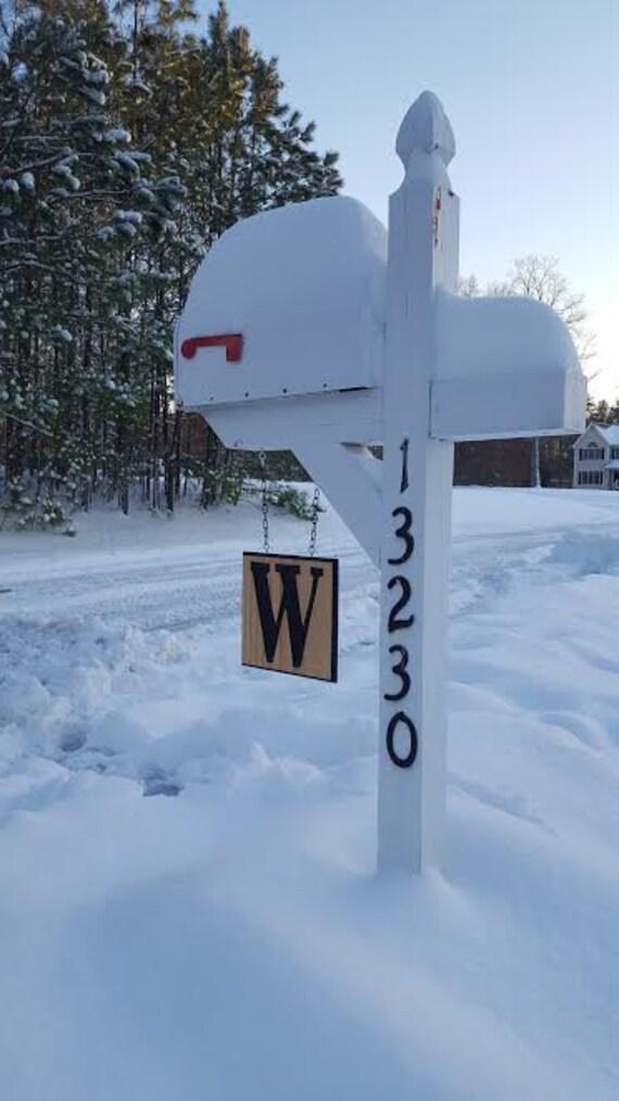 Wooden Monogram Mailbox Sign