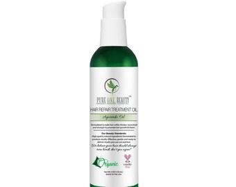 Ayurvedic Oil Hair Repair Treatment Oil; Hair Growth Oil, Hair Repair Oil, Hot Oil Treatment, Hair Oil, Softer, Silkier, Healthier Hair