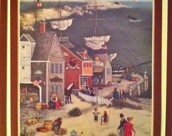 6 Prints Two Sided - Americana Primitive Art Prints/Set of American Folk Art Prints/Americana Wall Decor/Primitive American Art/Folk Art