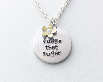 Unbreakable Kimmy Schmidt necklace, Fudge That Sugar, kimmy schmidt jewelry, kimmy schmidt necklace, Kimmy Schmidt