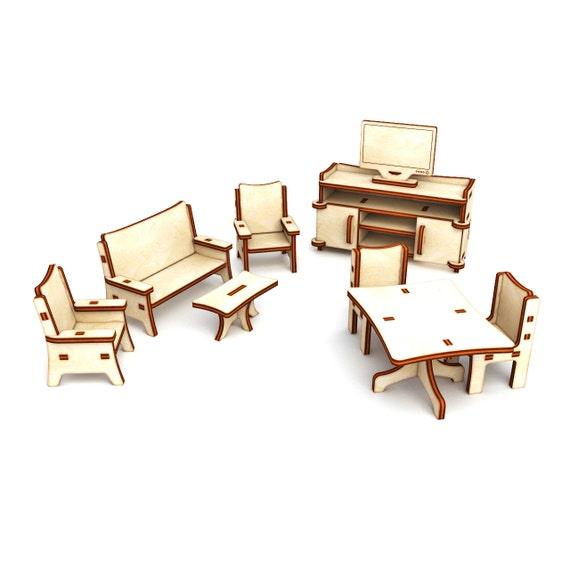 Furniture For Dollhouse Living Room Dollhouse Miniature