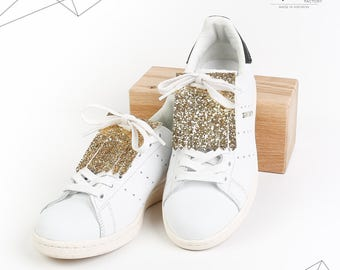 Kilties or removable tabs glitter for shoes (gold)