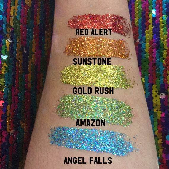 Holographic Pressed Glitters