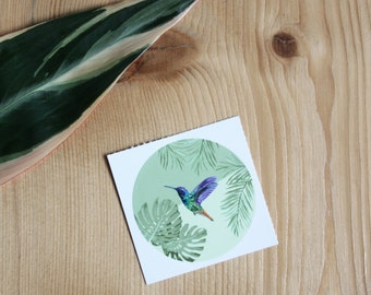 Tropical Envelope Seal Stickers, Palm Stickers, Wedding Stickers