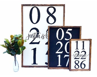 Custom Date Small, wedding date sign, wedding sign, wedding gift, anniversary gift, engagment gift, wedding, anniversary, engagement, gift
