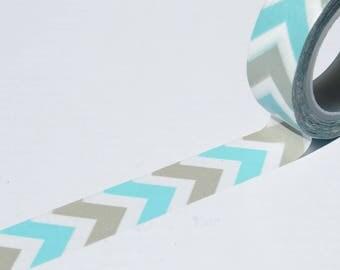 Turquoise Grey Washi Tape